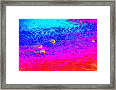 Romance On The Water, Or How To Make A Swim Magic  Framed Print by Hilde Widerberg