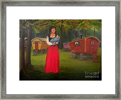 Romany Mother And Child Framed Print