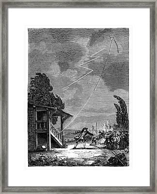 Romas's Lightning Experiment Framed Print