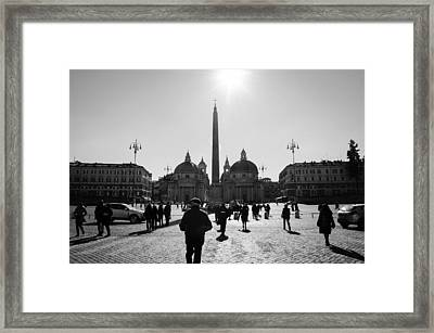 Rome - Piazza Del Popolo Framed Print by Andrea Mazzocchetti