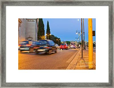 Rome At Night Framed Print by Luis Alvarenga