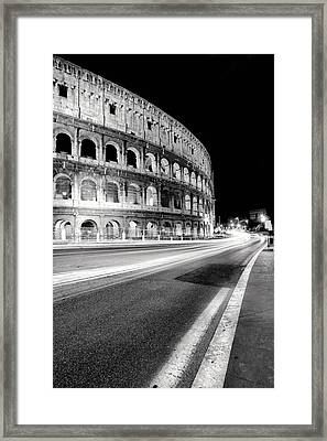 Rome Colloseo Framed Print by Nina Papiorek