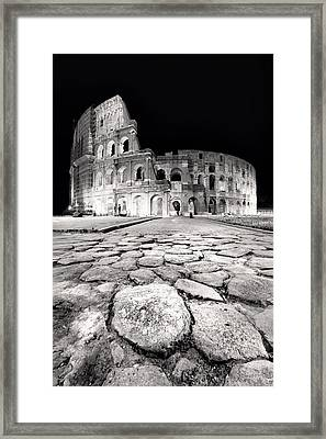 Rome Colloseum Framed Print by Nina Papiorek