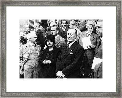 Rome Conference On Nuclear Physics Framed Print by Emilio Segre Visual Archives, Goudsmit Collection/american Institute Of Physics
