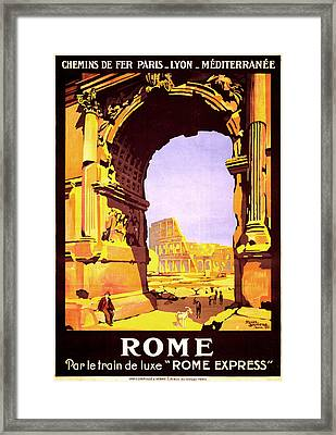 Rome Express Framed Print