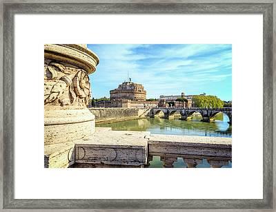 Rome, Italy. Castel Santangelo Framed Print