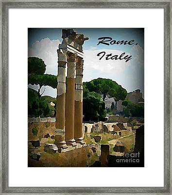 Rome Italy Poster Framed Print by John Malone