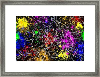 Rome Map Framed Print by Stephen Younts
