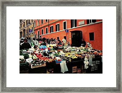Rome Market Framed Print by Diana Angstadt