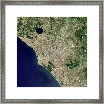 Rome Framed Print by Nasa