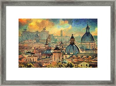 Rome Framed Print by Taylan Apukovska