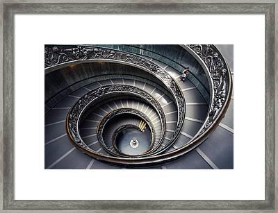Rome Vatican Museum Framed Print by Nina Papiorek