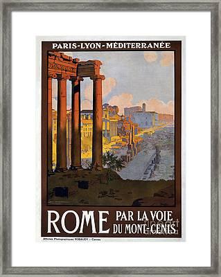 Rome Vintage Travel Poster Framed Print