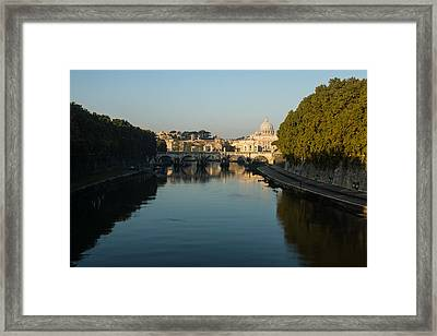 Framed Print featuring the photograph Rome Waking Up by Georgia Mizuleva