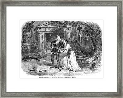 Romeo And Juliet, 1864 Framed Print