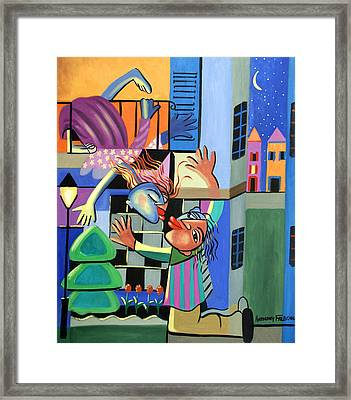 Romeo And Juliet Framed Print by Anthony Falbo