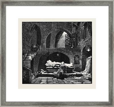 Romeo And Juliet At The Lyceum Theatre Framed Print by English School