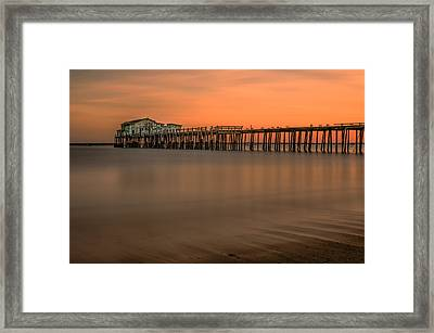 Romeo's Pier Framed Print by Linda Villers