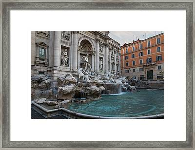 Rome's Fabulous Fountains - Trevi Fountain - No Tourists Framed Print by Georgia Mizuleva