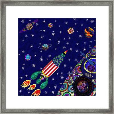 Romney Rocket - Destination Mars 2023 Framed Print