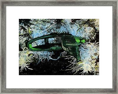 Romulan Warbird Framed Print by Judith Groeger