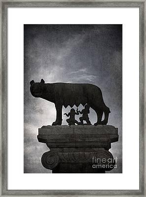Romulus And Remus - Rome Framed Print