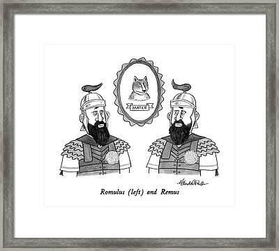 Romulus Framed Print by J.B. Handelsman
