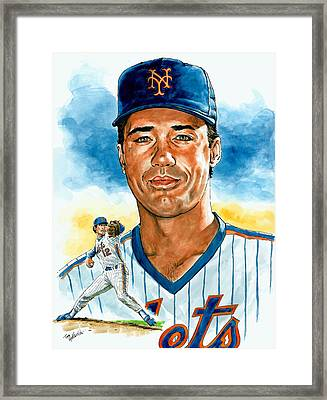 Ron Darling Framed Print by Tom Hedderich