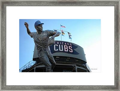 Ron Santo Chicago Cubs Statue Framed Print by Thomas Woolworth