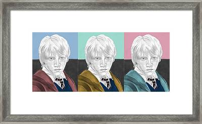 Ron Weasley - 3up One Print  Framed Print