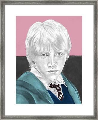 Ron Weasley - Individual Pink Framed Print by Alexander Gilbert