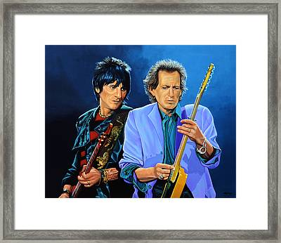 Ron Wood And Keith Richards Framed Print by Paul Meijering
