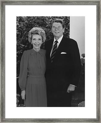 Ronald And Nancy Reagan Framed Print by War Is Hell Store