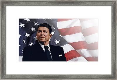 Ronald Reagan - American Framed Print by Daniel Hagerman