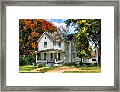Ronald Reagan Boyhood Home Framed Print