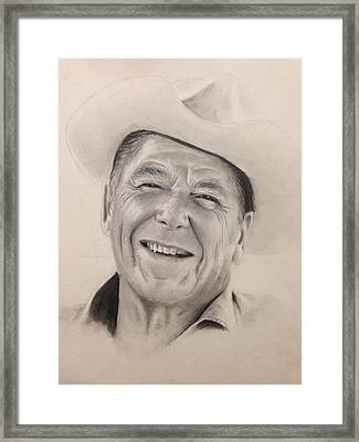 Ronald Reagan Framed Print by Ethan B Warner