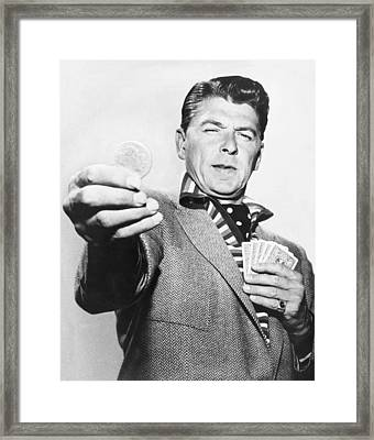 Ronald Reagan Film Still Framed Print by Underwood Archives
