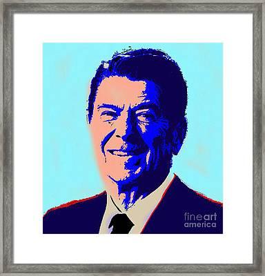 Ronald Reagan Framed Print by Gerhardt Isringhaus