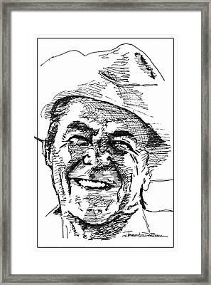 Ronald Reagan Framed Print by Jerrett Dornbusch