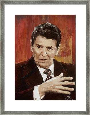 Ronald Reagan Portrait 2 Framed Print by Corporate Art Task Force