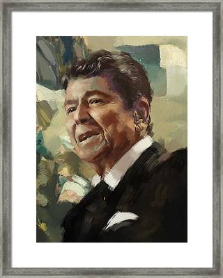 Ronald Reagan Portrait 5 Framed Print by Corporate Art Task Force