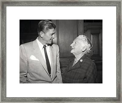 Ronald Reagan Framed Print by Retro Images Archive