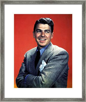 Ronald Reagan Framed Print by Unknown