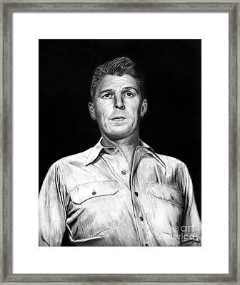 Ronald Regan Framed Print by Peter Piatt