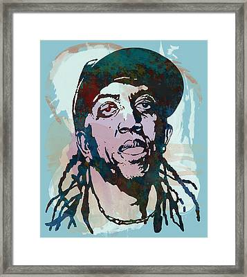 ronald slim williams Stylised Etching Pop Art Poster Framed Print by Kim Wang
