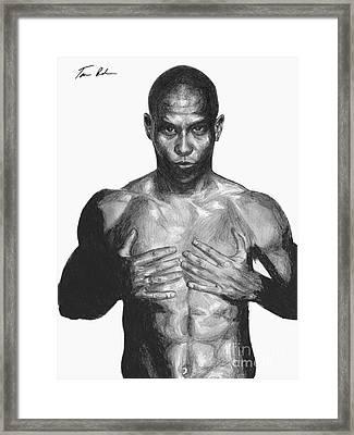 Ronaldo Framed Print by Tamir Barkan