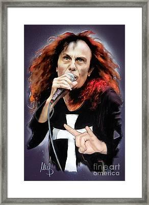 Ronnie James Dio Framed Print by Melanie D