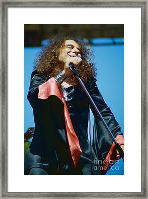 Ronnie James Dio Of Black Sabbath During 1980 Heaven And Hell Tour-new Photo  Framed Print by Daniel Larsen