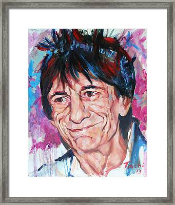 Ronnie Framed Print by Tachi Pintor