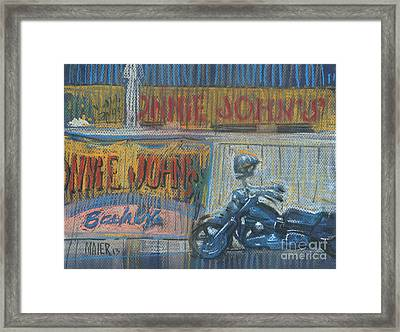 Framed Print featuring the painting Ronnie's Bike by Donald Maier